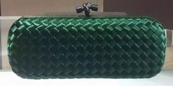 Bottega Veneta STRETCH Knot Sheepskin Leather Clutch BV8651 Green
