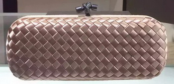 Bottega Veneta STRETCH Knot Sheepskin Leather Clutch BV8651 Light Gold