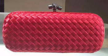 Bottega Veneta STRETCH Knot Sheepskin Leather Clutch BV8651 Red