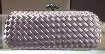 Bottega Veneta STRETCH Knot Sheepskin Leather Clutch BV8651 Silver