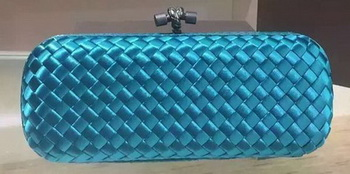 Bottega Veneta STRETCH Knot Sheepskin Leather Clutch BV8651 SkyBlue