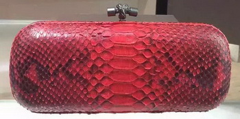 Bottega Veneta Snake Leather Knot Clutch 8651G