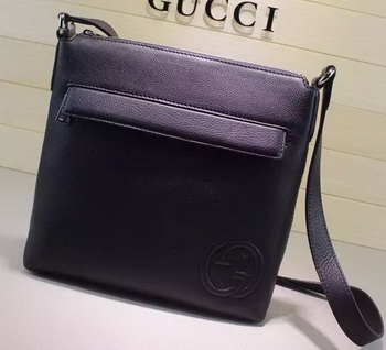 Gucci Calf Leather Messenger BagS 322059 Black
