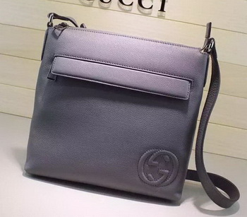 Gucci Calf Leather Messenger BagS 322059 Grey