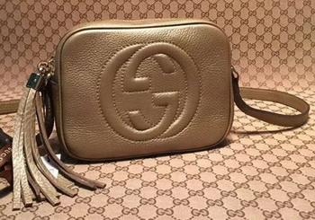 Gucci Soho Calfskin Leather Disco Bag 308364 Gold