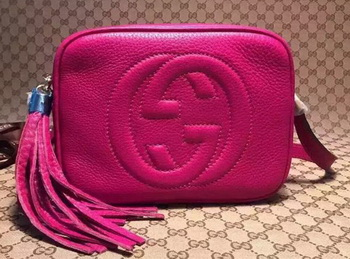 Gucci Soho Calfskin Leather Disco Bag 308364 Rose