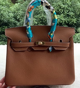 Hermes Birkin 25CM Tote Bag Litchi Leather H25T Brown