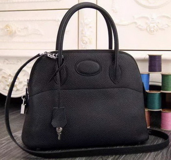 Hermes Bolide 37CM Calfskin Leather Tote Bag B1004 Black