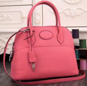 Hermes Bolide 37CM Calfskin Leather Tote Bag B1004 Pink