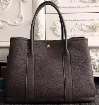 Hermes Garden Party 36cm 30cm Tote Bag Original Leather Dark Brown
