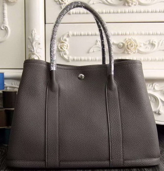 Hermes Garden Party 36cm 30cm Tote Bag Original Leather Dark Grey