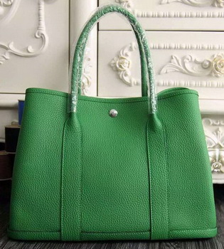 Hermes Garden Party 36cm 30cm Tote Bag Original Leather Green