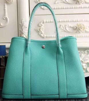 Hermes Garden Party 36cm 30cm Tote Bag Original Leather Light Green