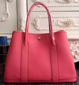 Hermes Garden Party 36cm 30cm Tote Bag Original Leather Light Red