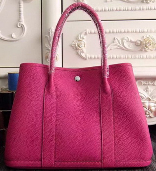 Hermes Garden Party 36cm 30cm Tote Bag Original Leather Rose