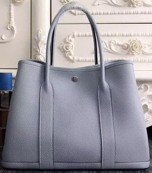 Hermes Garden Party 36cm 30cm Tote Bag Original Leather SkyBlue