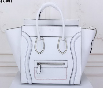 Celine Luggage Mini Tote Bag Original Leather CLY33081L White