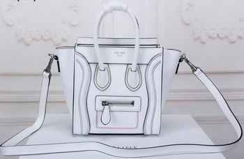Celine Luggage Nano Tote Bag Original Leather CLY33081S White