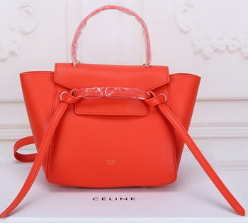 Celine mini Belt Bag Original Leather C3320 Orange