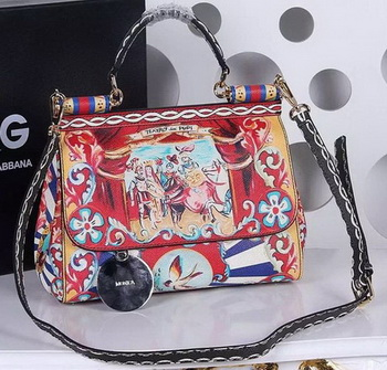Dolce & Gabbana SICILY Bag Calfskin Leather BB4137TAF