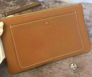 Hermes Grainy Leather Clutch H88016 Wheat