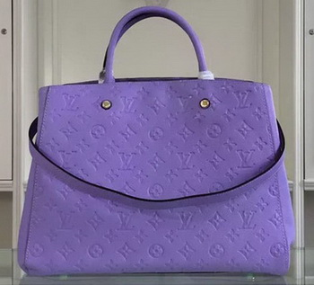 Louis Vuitton Monogram Empreinte MONTAIGNE GM Bag M41069 Lavender