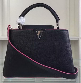 Louis Vuitton Taurillon Leather CAPUCINES BB Bag M90939 Black&Rose