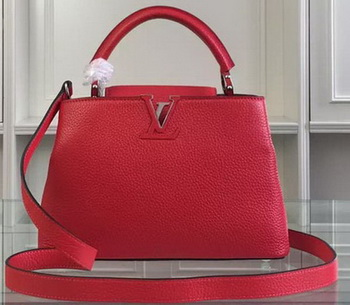 Louis Vuitton Taurillon Leather CAPUCINES BB Bag M90939 Red&Black