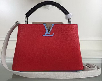 Louis Vuitton Taurillon Leather CAPUCINES BB Bag M90939 Red&Pink