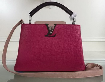 Louis Vuitton Taurillon Leather CAPUCINES BB Bag M90939 Rose&Pink