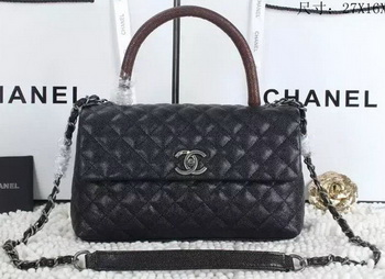 Chanel Classic Top Handle Bag Cannage Pattern A92991 Red