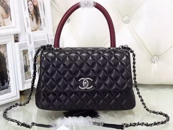 Chanel Classic Top Handle Bag Sheepskin Leather A92991 Red