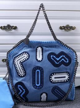 Stella McCartney Denim Tote Bag SM809 Blue