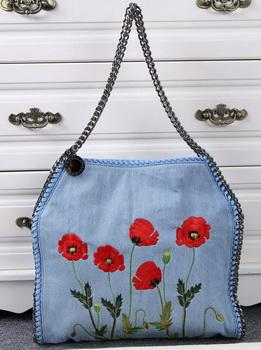 Stella McCartney Denim Tote Bag SM811 Blue