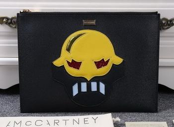 Stella McCartney SUPERHERO Medium ZIPPED CLUTCH SM891 Yellow