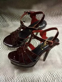 Yves Saint Laurent 20mm Platform 130mm Sandal YSL302 Burgundy