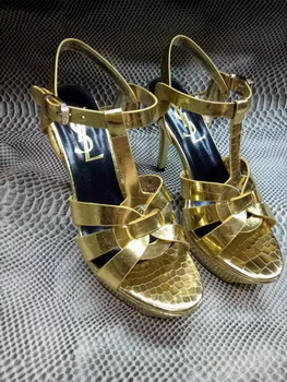 Yves Saint Laurent 20mm Platform 130mm Sandal YSL304 Gold