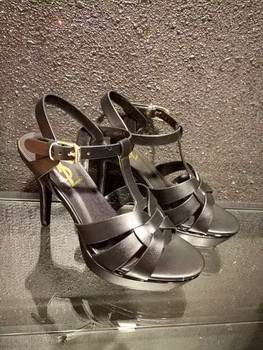 Yves Saint Laurent 20mm Platform 130mm Sandal YSL305 Black