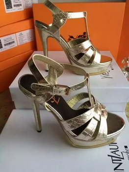 Yves Saint Laurent 20mm Platform 130mm Sandal YSL305 Gold