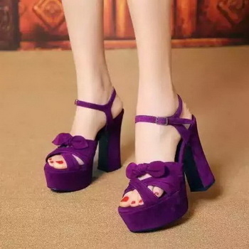Yves Saint Laurent 40mm Platform 130mm Pump YSL297 Purple