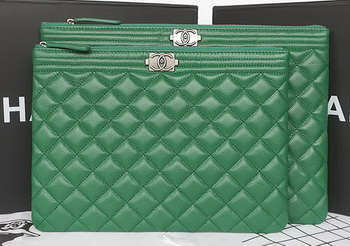 Boy Chanel Cannage Pattern Clutch A69254 Green