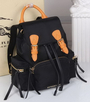 Burberry Backpack Fabric BU40166 Black&Orange