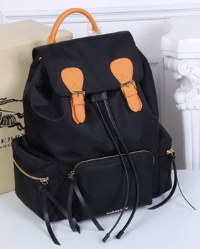 Burberry Large Backpack Fabric BU41048 Black&Orange