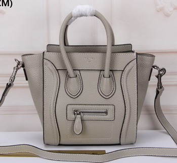 Celine Luggage Nano Tote Bag Original Leather CLY33081S Grey