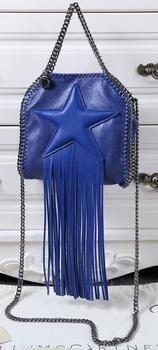 Stella McCartney Falabella Fringed Star Mini Tote Bag SM8855 Royal