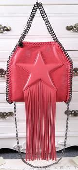 Stella McCartney Falabella Fringed Star Mini Tote Bag SM8865 Light Red