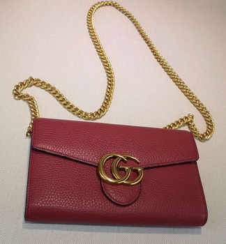 Gucci GG Marmont Leather mini Chain Bag 401232 Rose