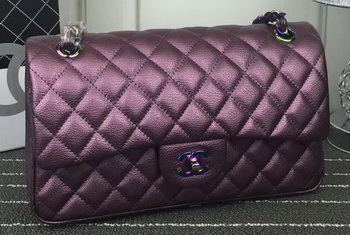 Chanel 2.55 Series Flap Bag Lambskin Leather A1112 Purple