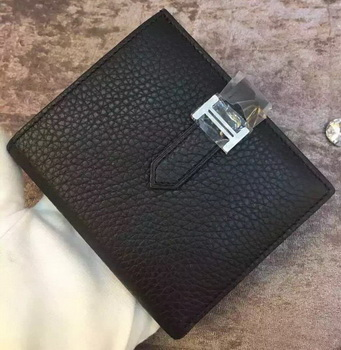 Hermes Bi-Fold Wallet Togo Leather H512 Black
