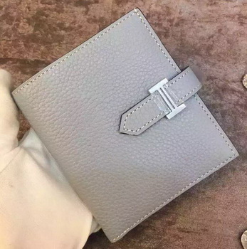 Hermes Bi-Fold Wallet Togo Leather H512 Light Blue